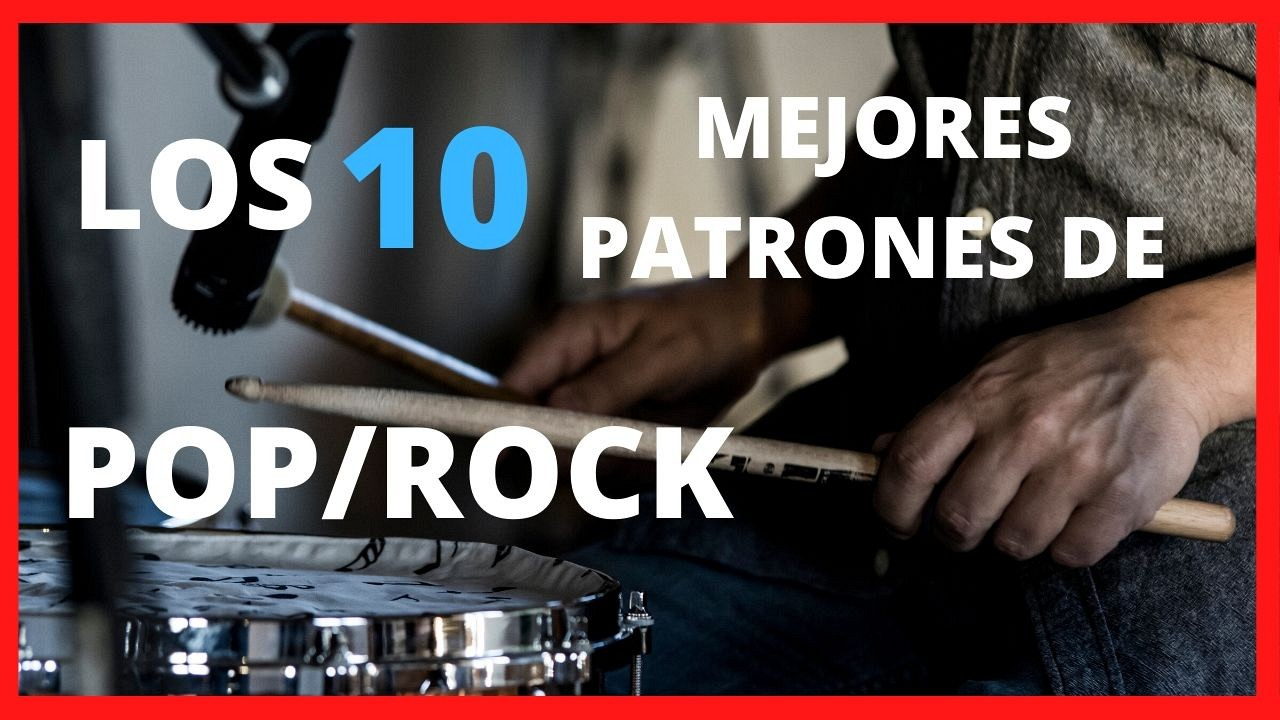 patrones de BATERIA pop/rock IMPRESCINDIBLES!